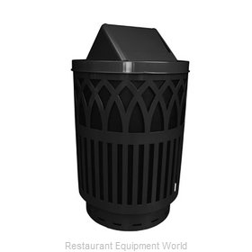 Witt Industries COV40-SWT-BK Waste Receptacle Outdoor