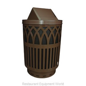 Witt Industries COV40-SWT-BN Waste Receptacle Outdoor