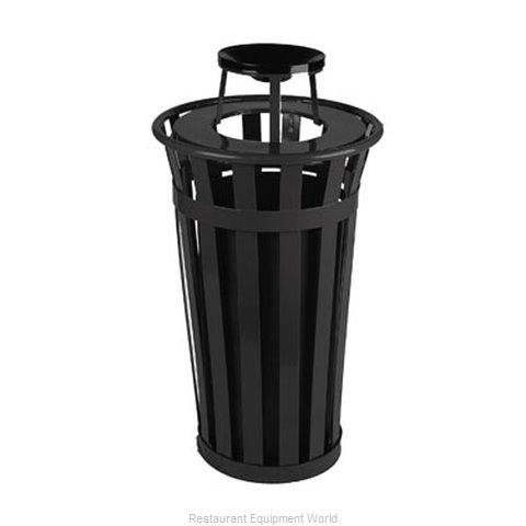 Witt Industries M2401-AT-BK Ash Tray Top Sand Urn Trash Can Base