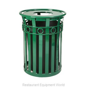 Witt Industries M3600-R-FT-GN Waste Receptacle Outdoor