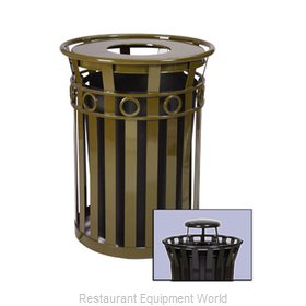 Witt Industries M3600-R-RC-BN Waste Receptacle Outdoor