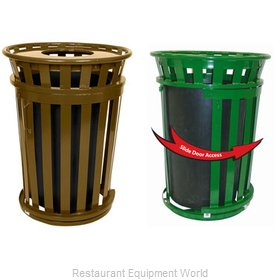 Witt Industries M3601SD-FT-BN Waste Receptacle Outdoor