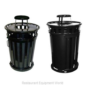 Witt Industries M3601SD-RC-BK Waste Receptacle Outdoor