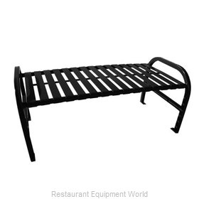 Witt Industries M4-BBS-BK Bench Outdoor