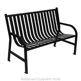 Witt Industries M4-BCH-BK Bench Outdoor
