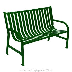Witt Industries M4-BCH-GN Bench Outdoor