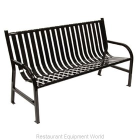 Witt Industries M5-BCH-BK Bench Outdoor