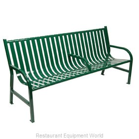 Witt Industries M6-BCH-ARM-GN Bench Outdoor