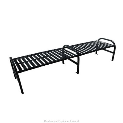 Witt Industries M8-BBS-ARM-BK Bench Outdoor | Benches and Frames