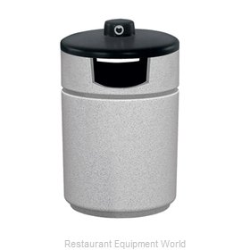 Witt Industries RLC-2641SHAB-WH Fiberglass Outdoor Receptacle