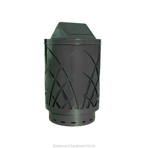 Witt Industries SAW40P-SWT-BK Waste Receptacle Outdoor
